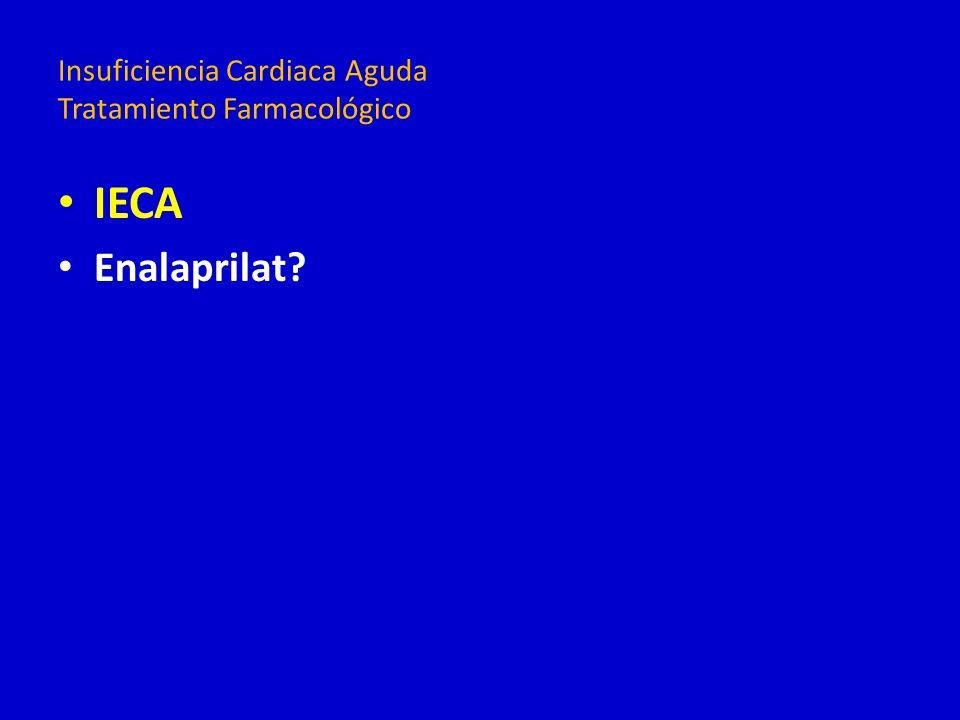 IECA Enalaprilat? Insuficiencia Cardiaca Aguda Tratamiento Farmacológico
