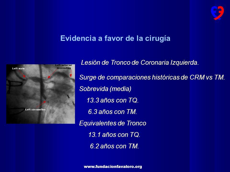 www.fundacionfavaloro.org Lesión de Tronco de Coronaria Izquierda.