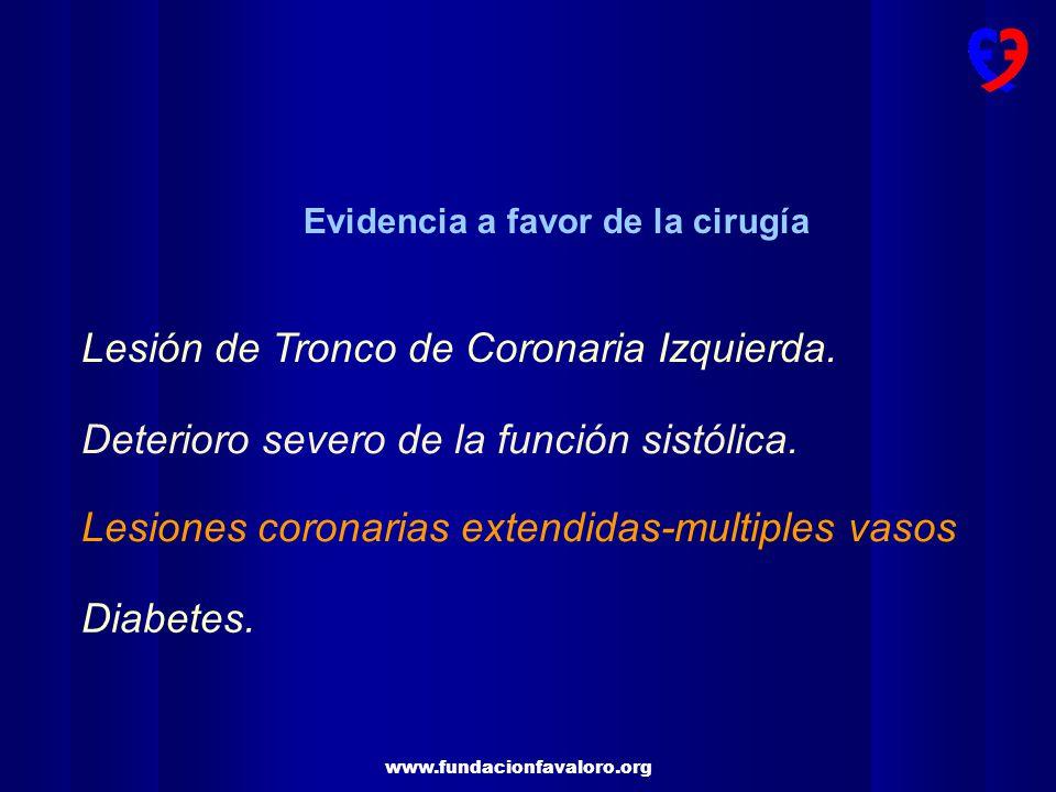 www.fundacionfavaloro.org Deterioro severo de la Función sistólica (35%).