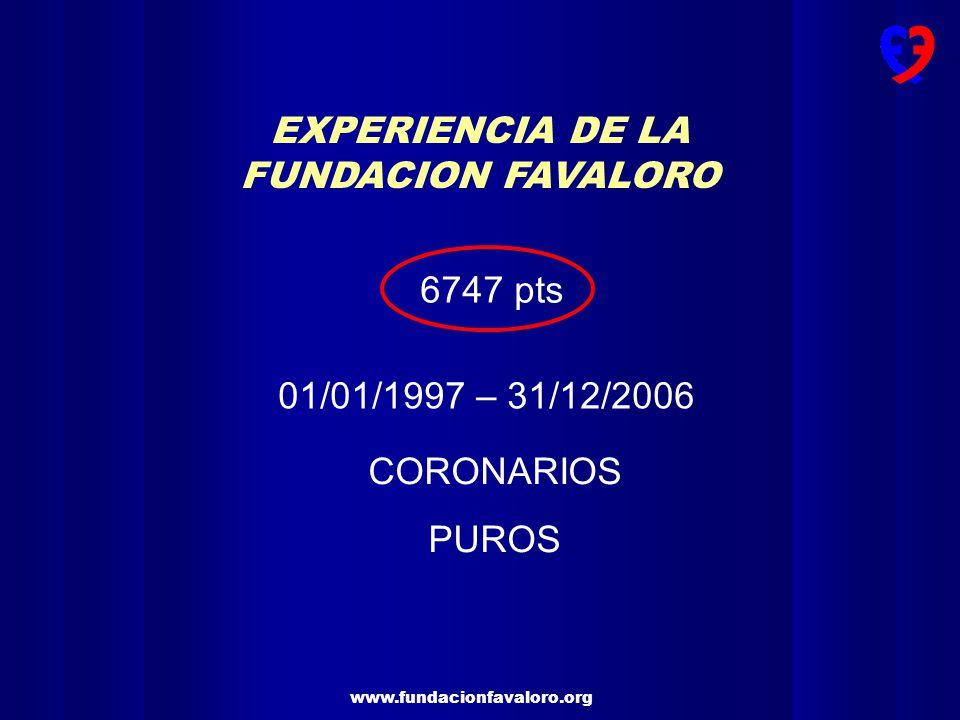 www.fundacionfavaloro.org CIRUGIA DE REVASCULARIZACION MIOCARDICA EN LA FUNDACION FAVALORO