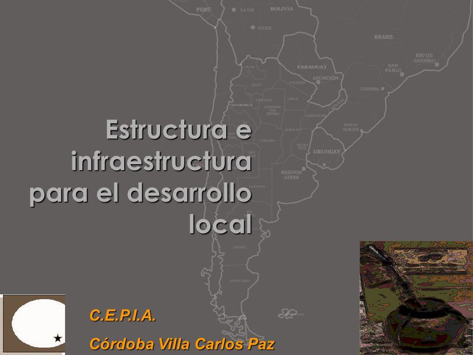 Estructura e infraestructura para el desarrollo local C.E.P.I.A.