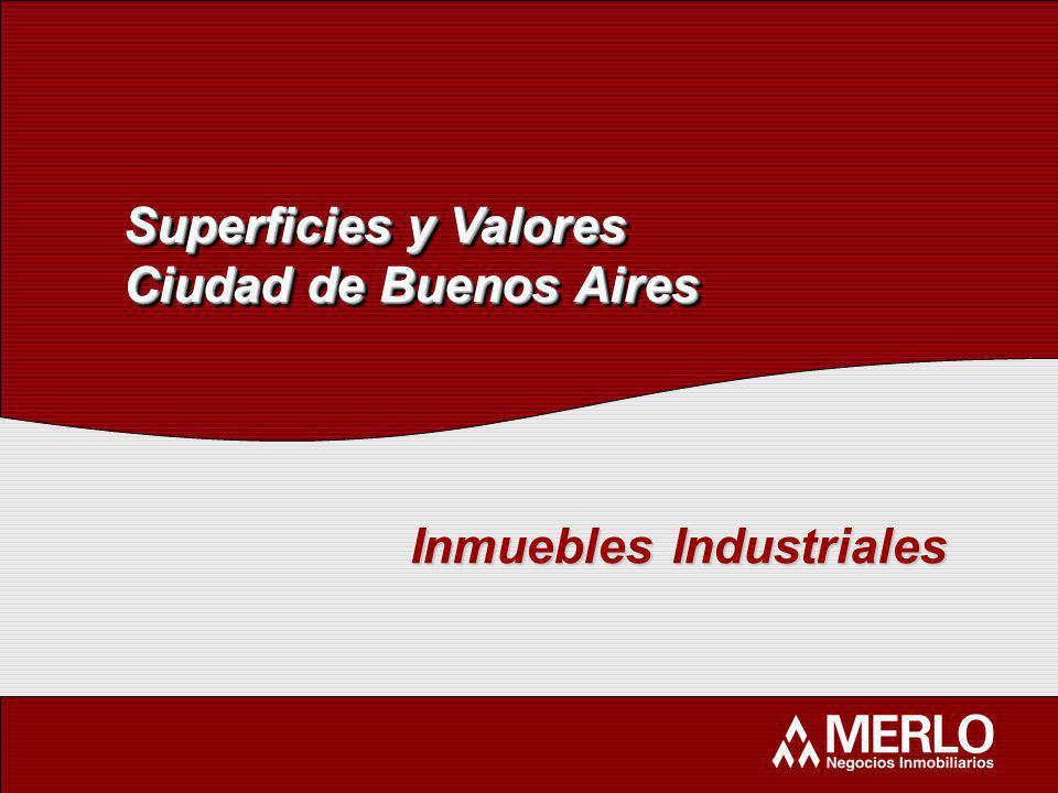 Superficies y Valores Ciudad de Buenos Aires Superficies y Valores Ciudad de Buenos Aires Inmuebles Industriales
