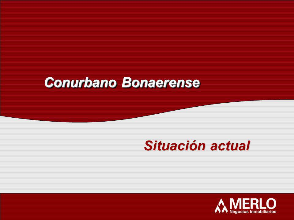 Conurbano Bonaerense Situación actual
