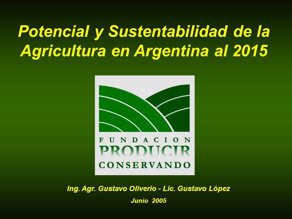 Potencial y Sustentabilidad de la Agricultura en Argentina al 2015 Ing. Agr. Gustavo Oliverio - Lic. Gustavo López Junio 2005