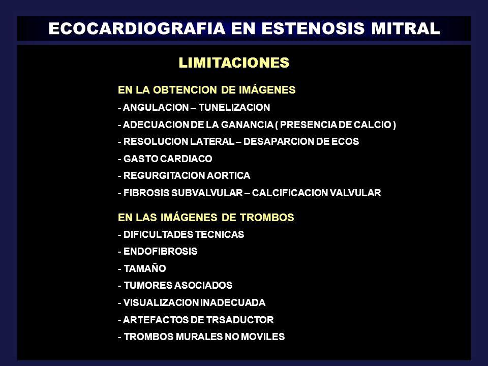 ECOCARDIOGRAFIA EN ESTENOSIS MITRAL || LIMITACIONES EN LA OBTENCION DE IMÁGENES - ANGULACION – TUNELIZACION - ADECUACION DE LA GANANCIA ( PRESENCIA DE