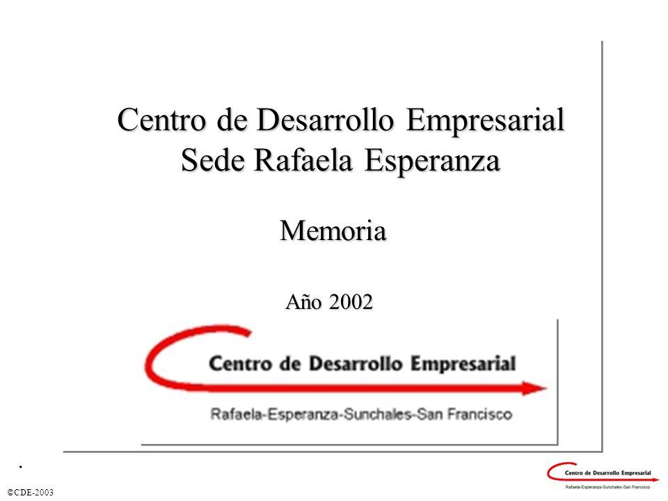 ©CDE-2003 Empresas Asistidas por Tamaño.