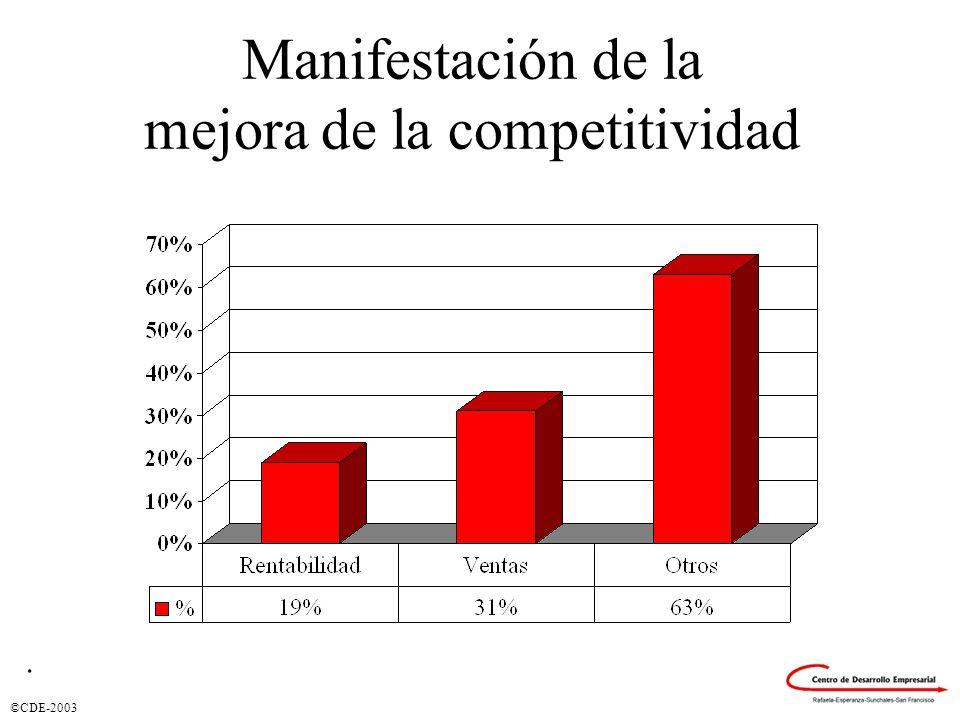©CDE-2003 Manifestación de la mejora de la competitividad.