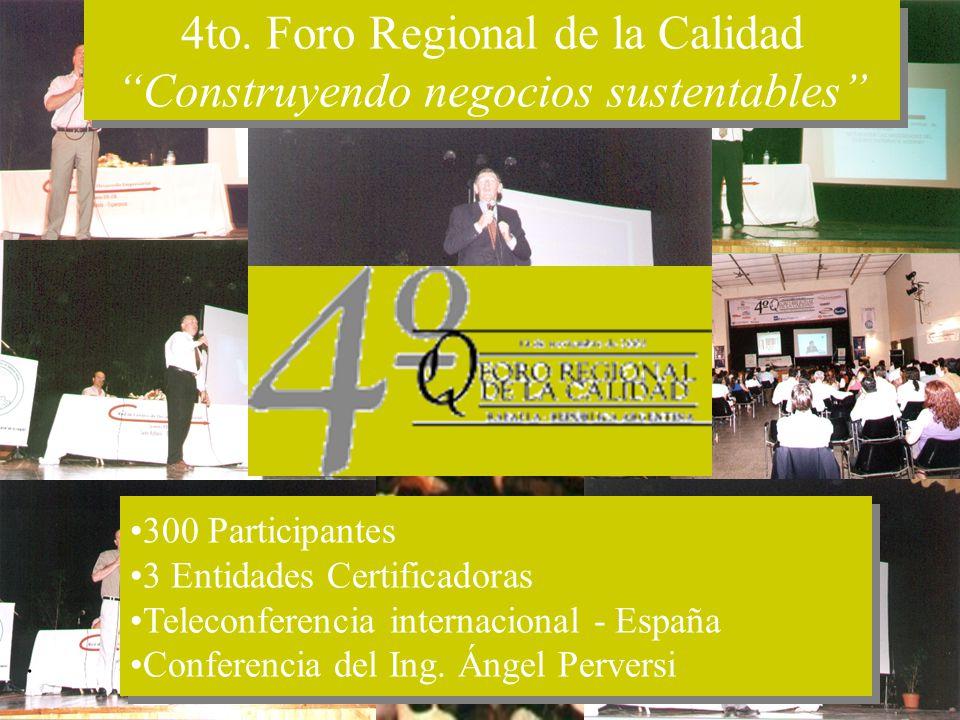 ©CDE-2003. 300 Participantes 3 Entidades Certificadoras Teleconferencia internacional - España Conferencia del Ing. Ángel Perversi 300 Participantes 3