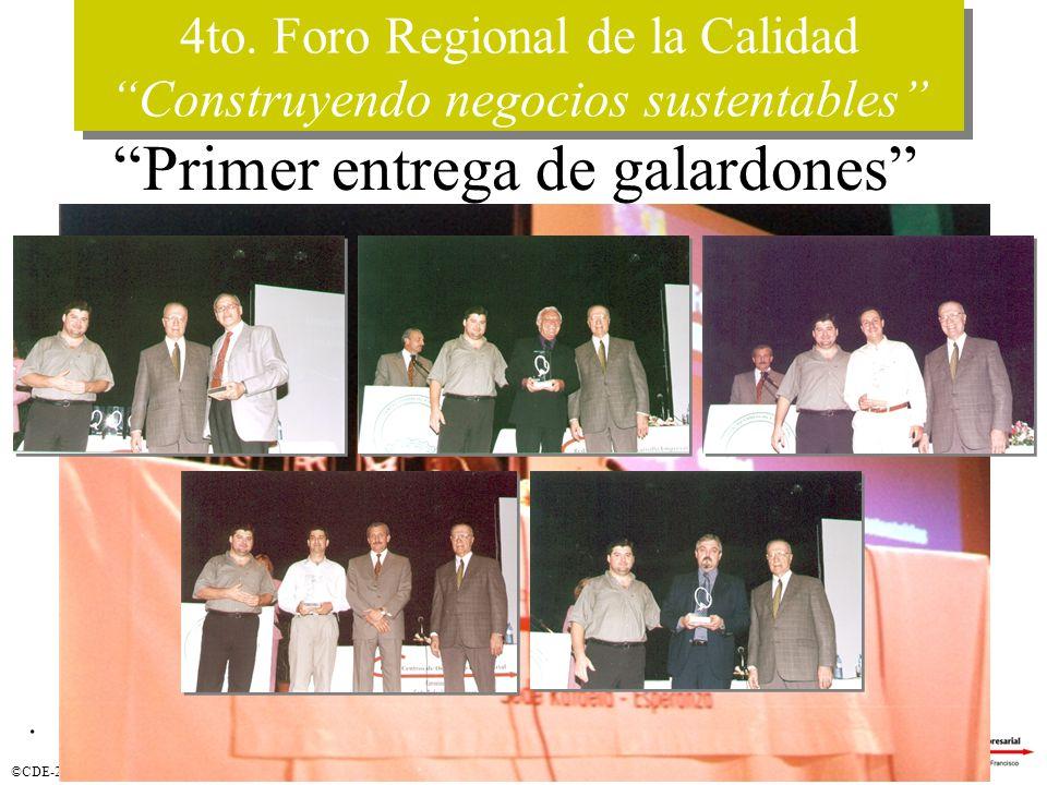 ©CDE-2003. 4to. Foro Regional de la Calidad Construyendo negocios sustentables 4to.