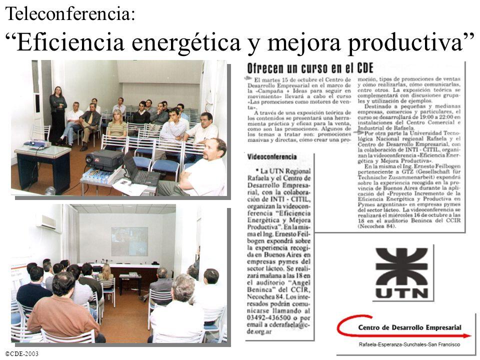 ©CDE-2003 Eficiencia energética y mejora productiva Teleconferencia:.
