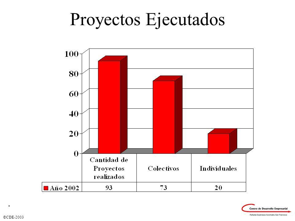 ©CDE-2003 Ciudades en las que se prestaron servicios
