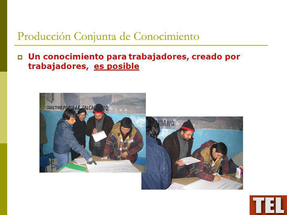 Producción Conjunta de Conocimiento Un conocimiento para trabajadores, creado por trabajadores, es posible