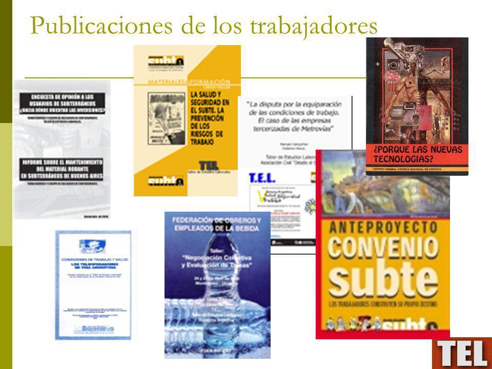 Publicaciones de los trabajadores