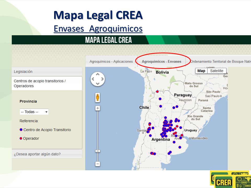 Mapa Legal CREA Envases Agroquimicos