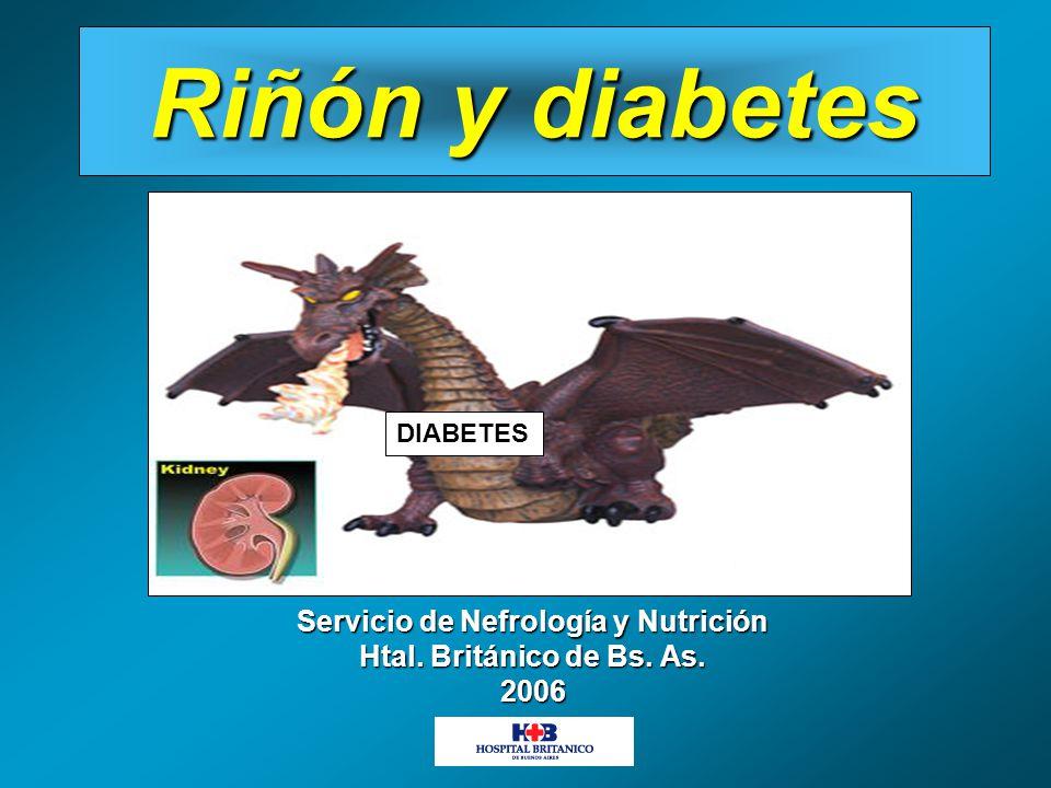 Riñón y diabetes DIABETES Servicio de Nefrología y Nutrición Htal. Británico de Bs. As. 2006