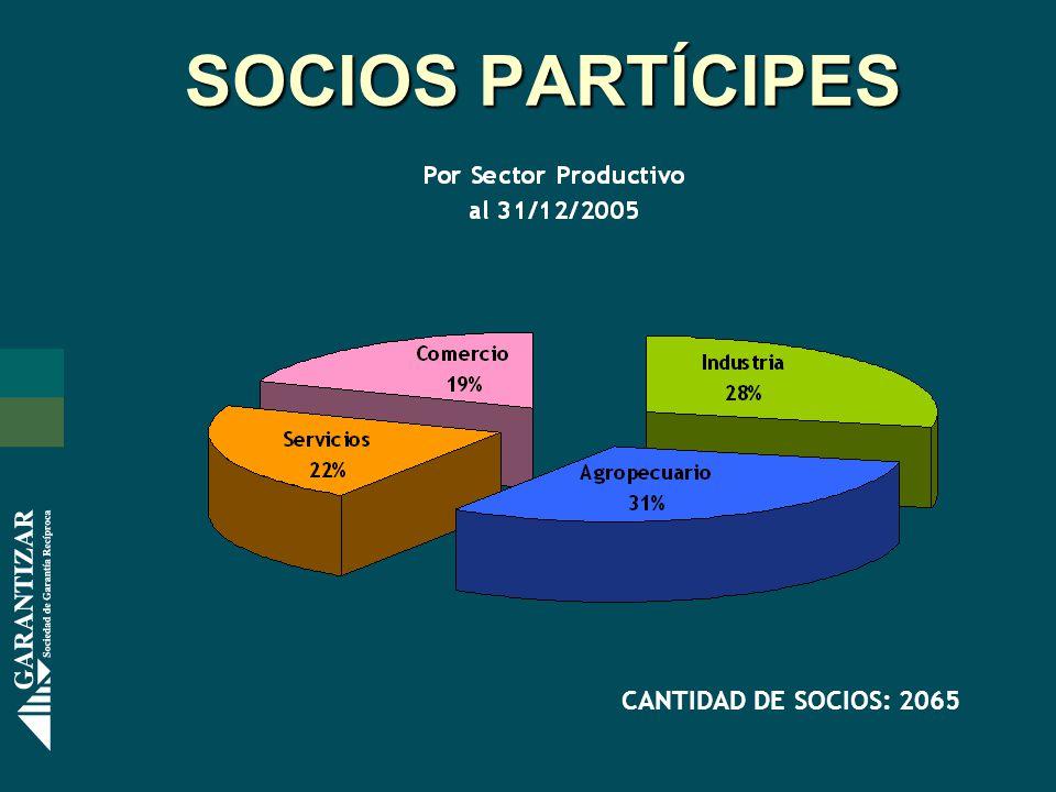 SOCIOS PARTÍCIPES CANTIDAD DE SOCIOS: 2065