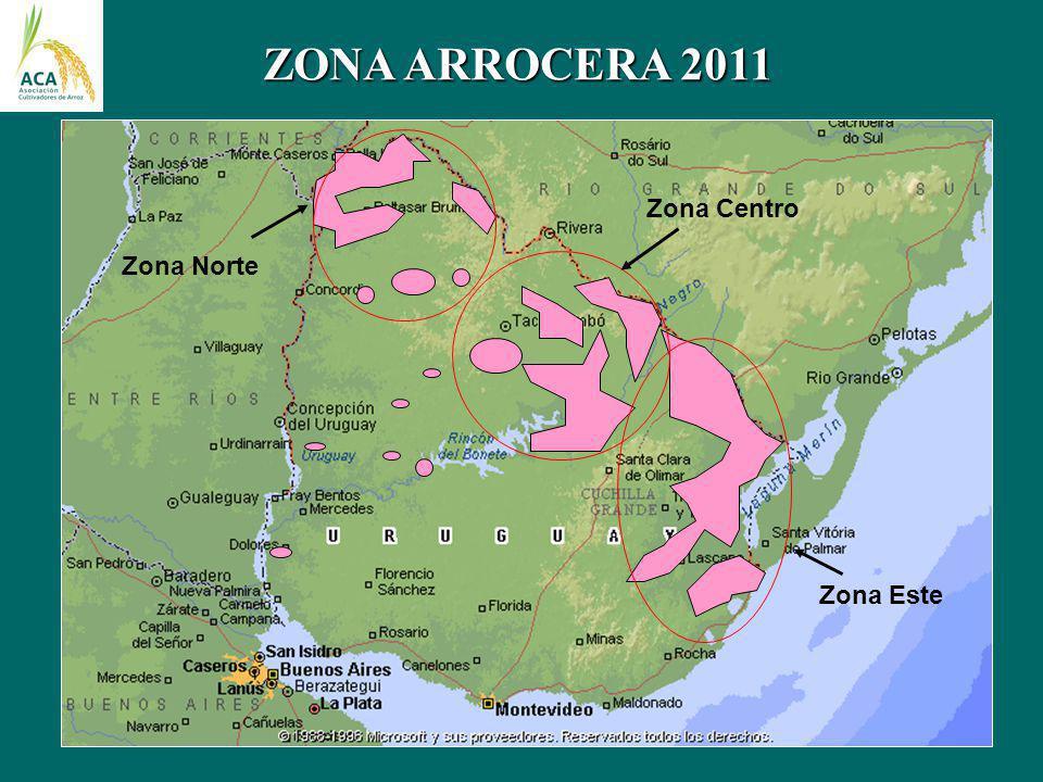 ZONA ARROCERA 2011 Zona Norte Zona Centro Zona Este