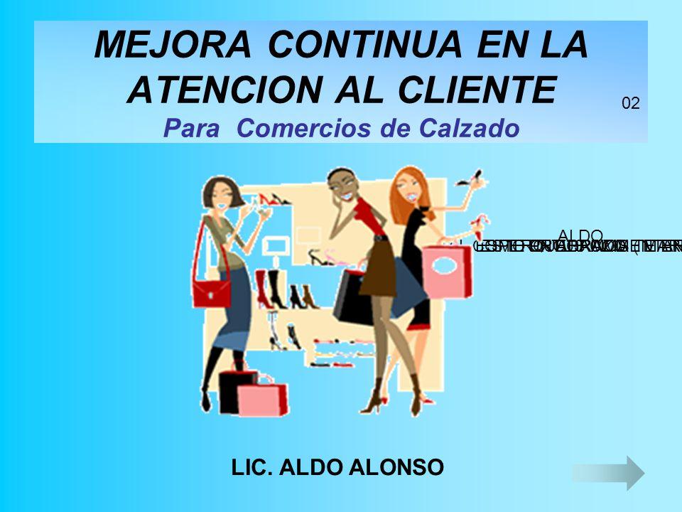 MEJORA CONTINUA EN LA ATENCION AL CLIENTE Para Comercios de Calzado LIC.