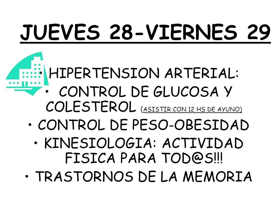 SEMANA DE GLAUCOMA Y CATARATAS CONTROL TODA LA SEMANA, DESDE EL LUNES 24 AL VIERNES 28