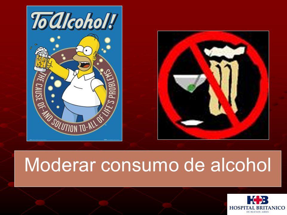 Moderar consumo de alcohol
