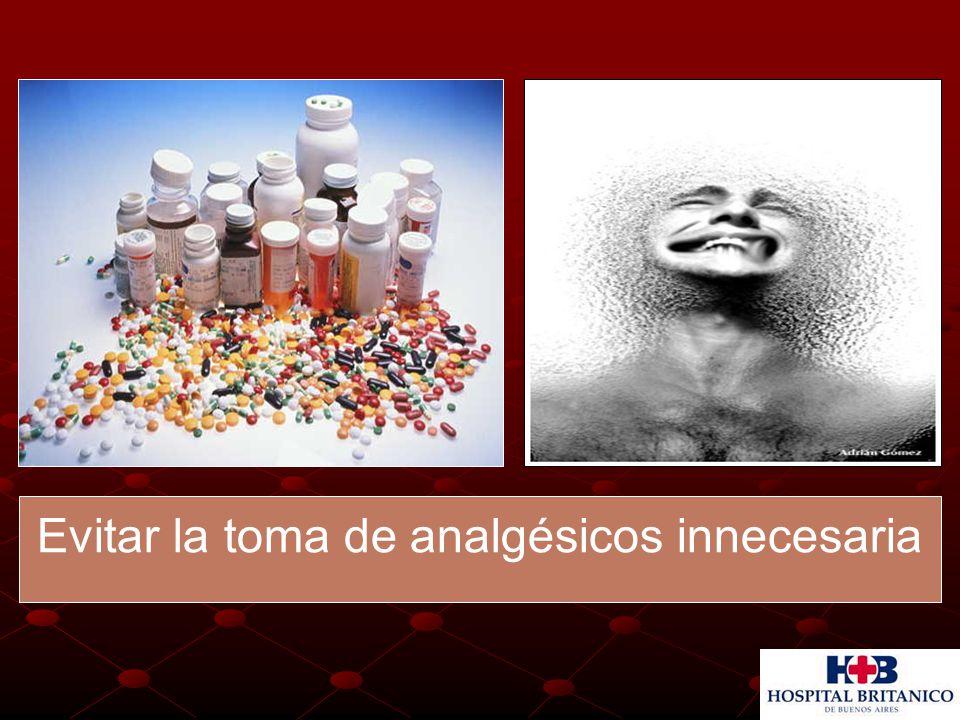 Evitar la toma de analgésicos innecesaria