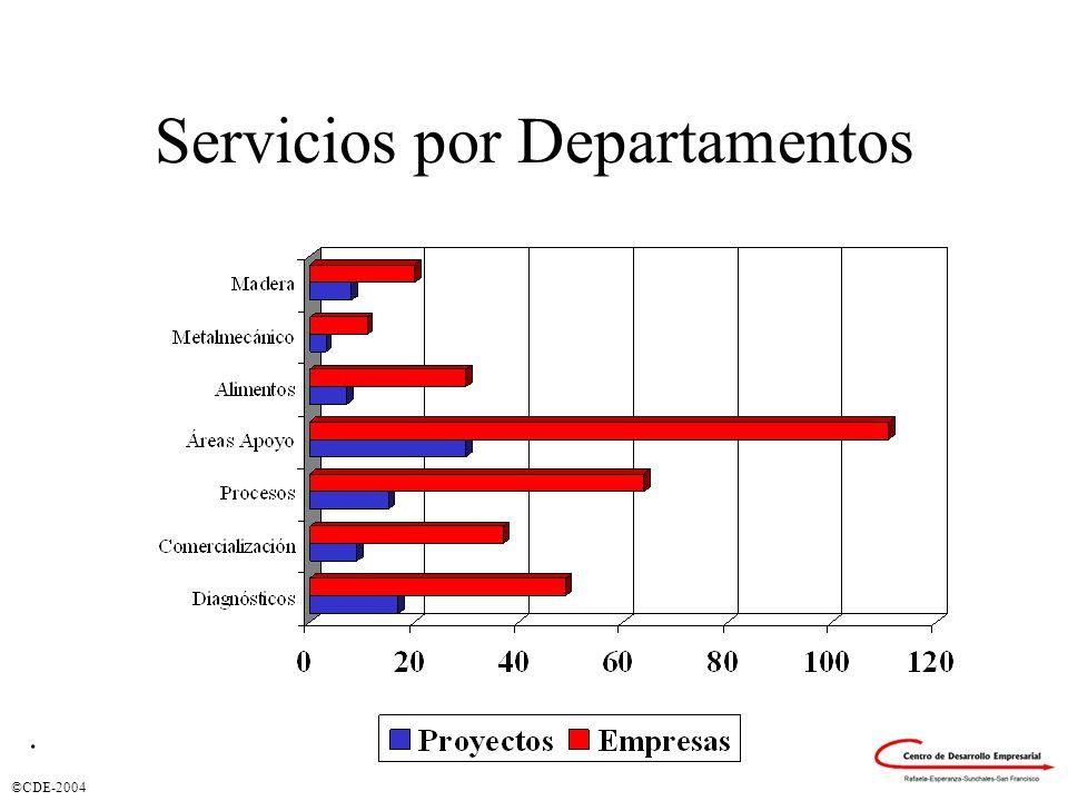 ©CDE-2004 Servicios por Departamentos.