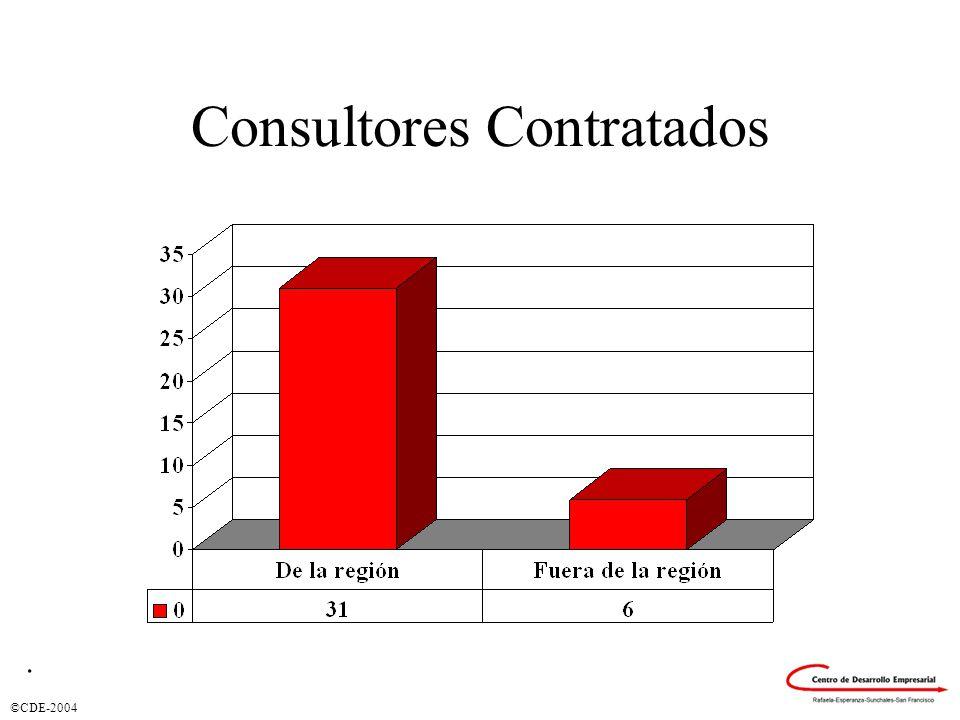 ©CDE-2004 Consultores Contratados.