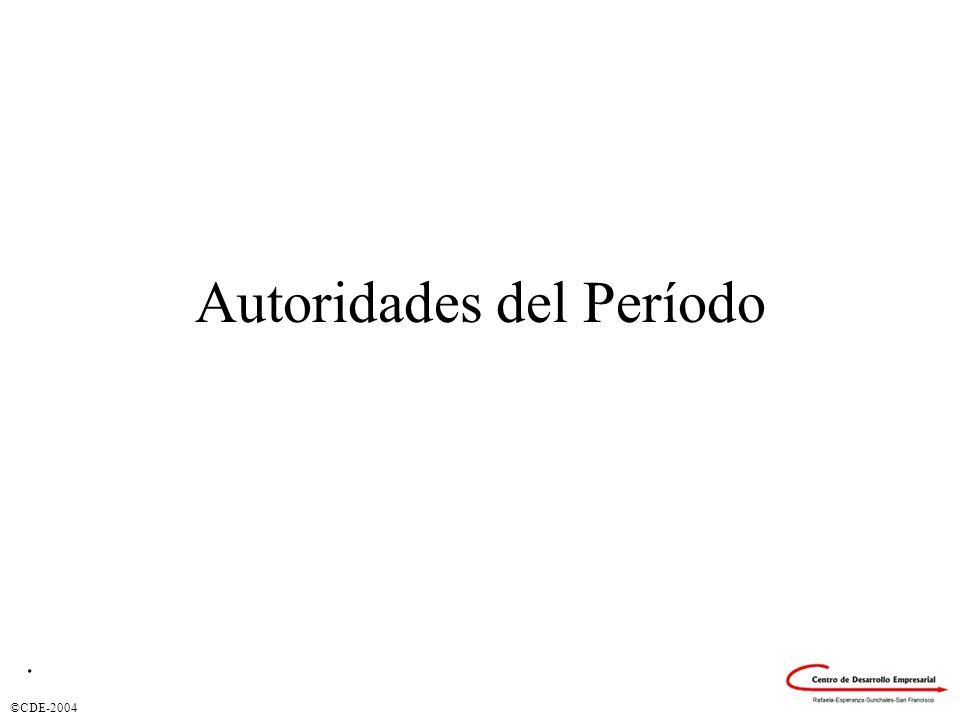 ©CDE-2004 Autoridades del Período.