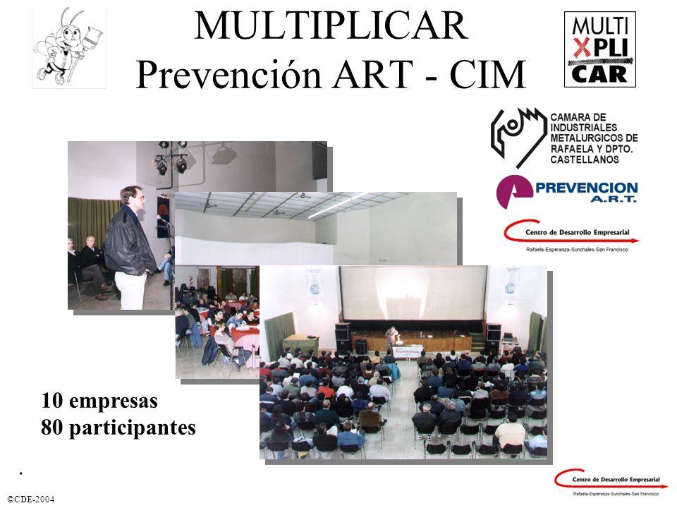 ©CDE-2004. MULTIPLICAR Prevención ART - CIM 10 empresas 80 participantes