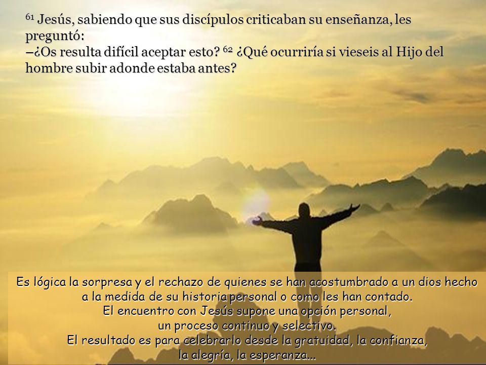 60 Muchos de sus discípulos, al oír a Jesús, dijeron: –Esta doctrina es inadmisible, ¿Quién puede aceptarla.