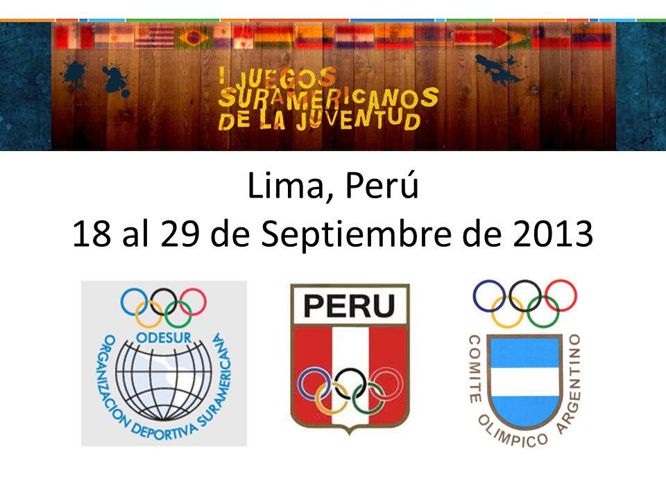 Lima, Perú 18 al 29 de Septiembre de 2013