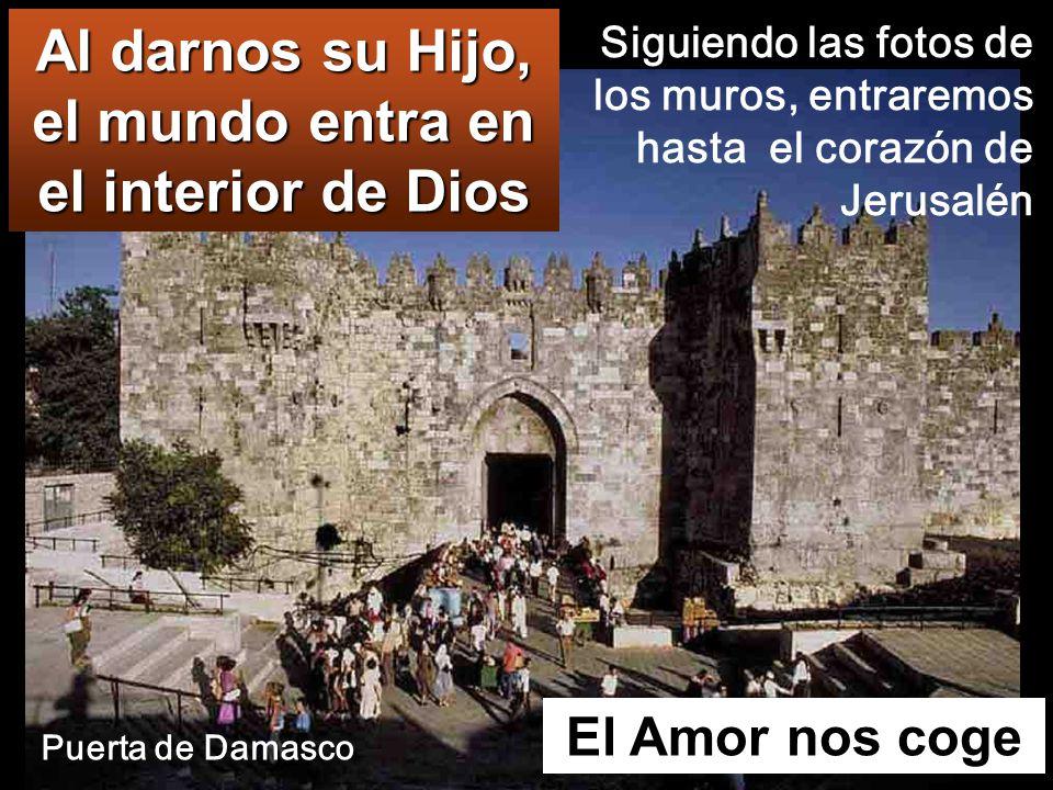 El Amor nos coge Al darnos su Hijo, el mundo entra en el interior de Dios Siguiendo las fotos de los muros, entraremos hasta el corazón de Jerusalén Puerta de Damasco