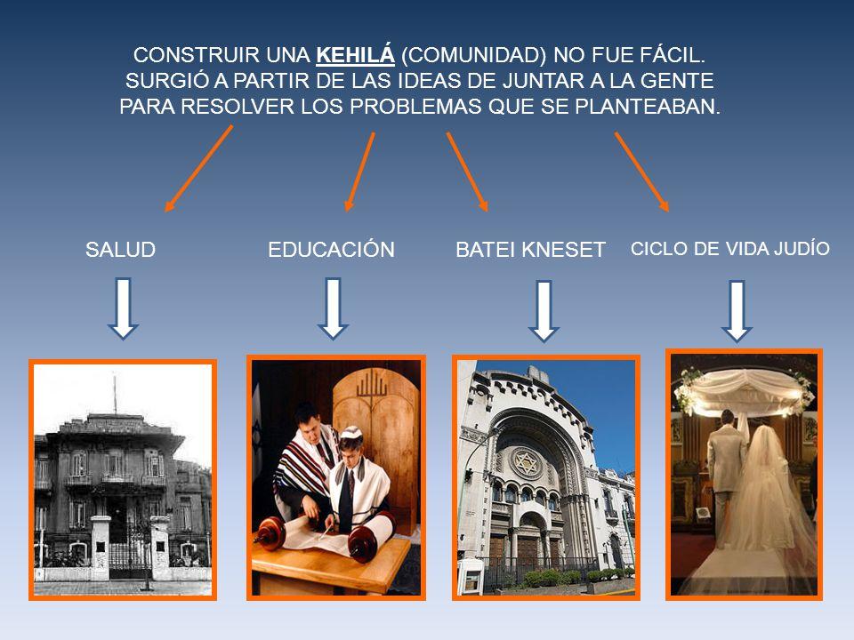 CONSTRUIR UNA KEHILÁ (COMUNIDAD) NO FUE FÁCIL. SURGIÓ A PARTIR DE LAS IDEAS DE JUNTAR A LA GENTE PARA RESOLVER LOS PROBLEMAS QUE SE PLANTEABAN. SALUDE