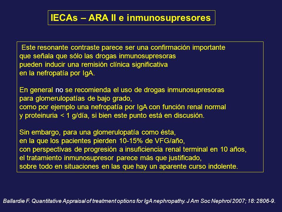 Este resonante contraste parece ser una confirmación importante que señala que sólo las drogas inmunosupresoras pueden inducir una remisión clínica si
