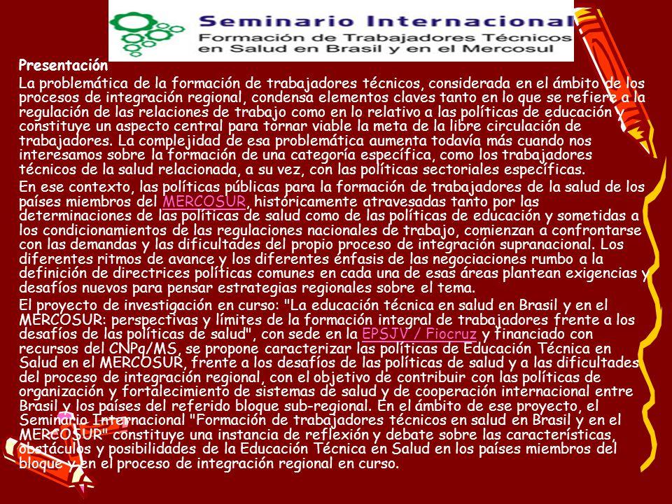 2007- 2010 Primeros Programas Aprobados Programas a Aprobación Oficiales por CFE - Ministerio de Educación de Nación para los Técnicos en Salud