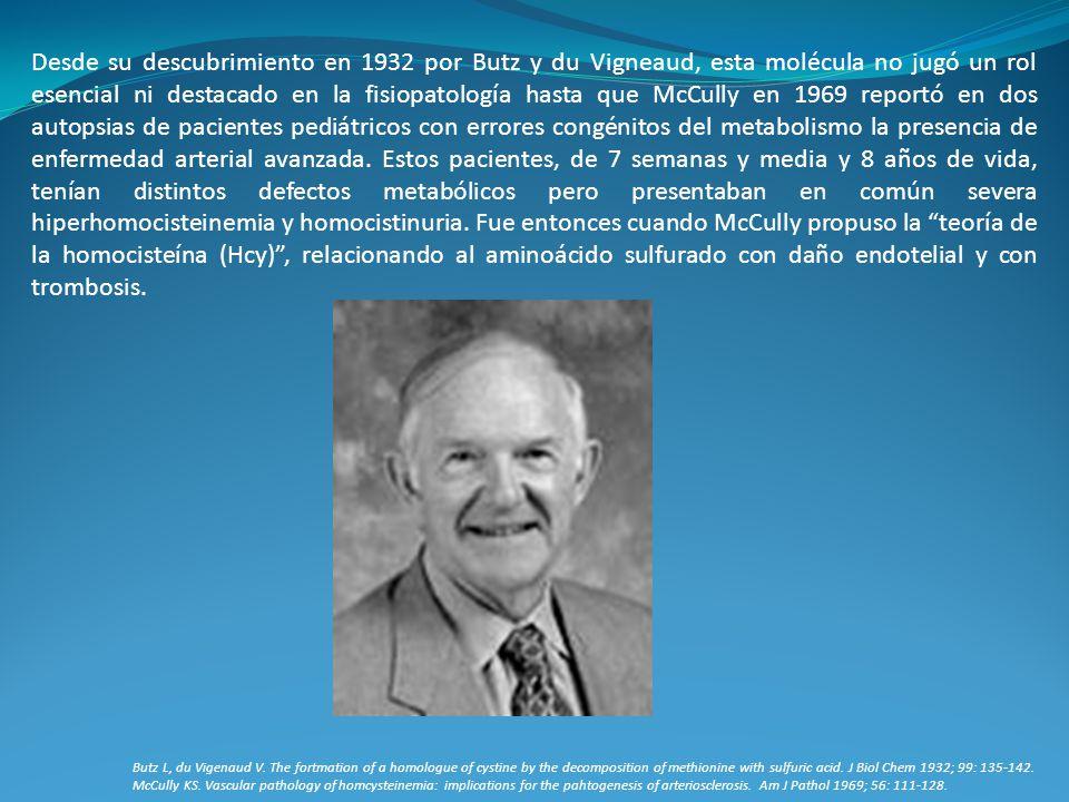 Desde su descubrimiento en 1932 por Butz y du Vigneaud, esta molécula no jugó un rol esencial ni destacado en la fisiopatología hasta que McCully en 1