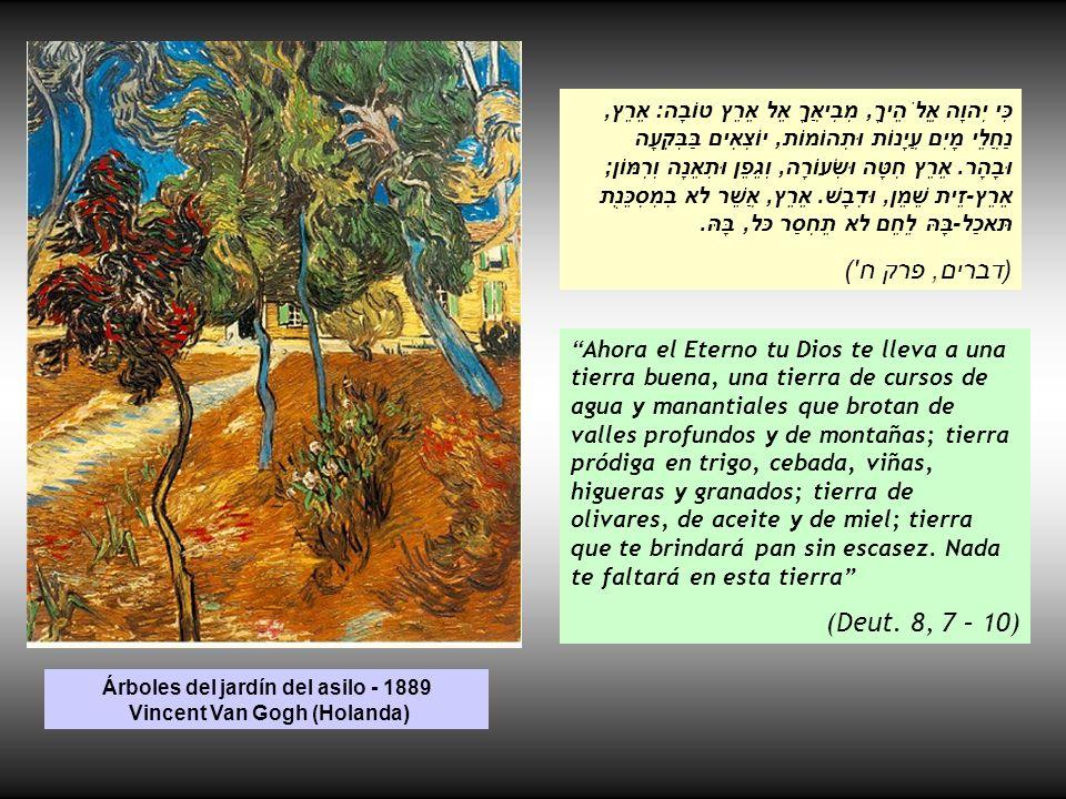 Árboles de olivo viejos - 1967 Reubén Rubín (Israel) ובנו בתים וישבו ונטעו כרמים ואכלו פריָם.