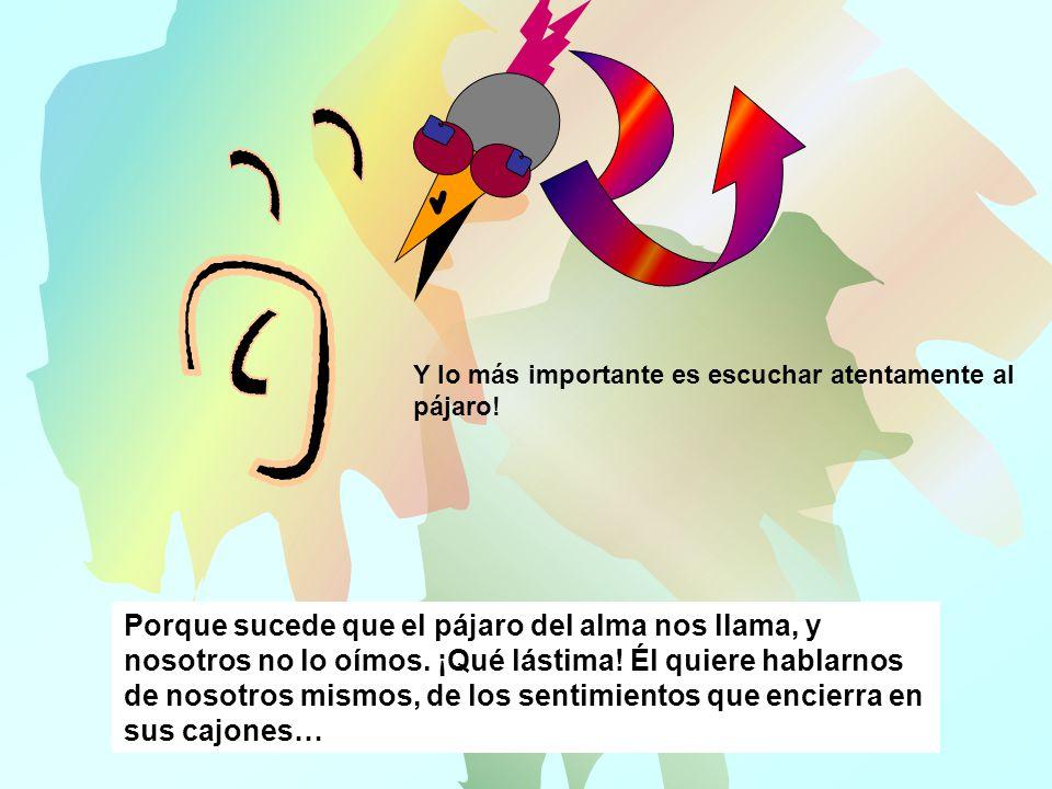 Alegría Tolerancia Esperanza Un pájaro que se siente bien elige cajones agradables…