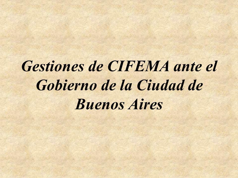 Gestiones de CIFEMA ante el Gobierno de la Ciudad de Buenos Aires