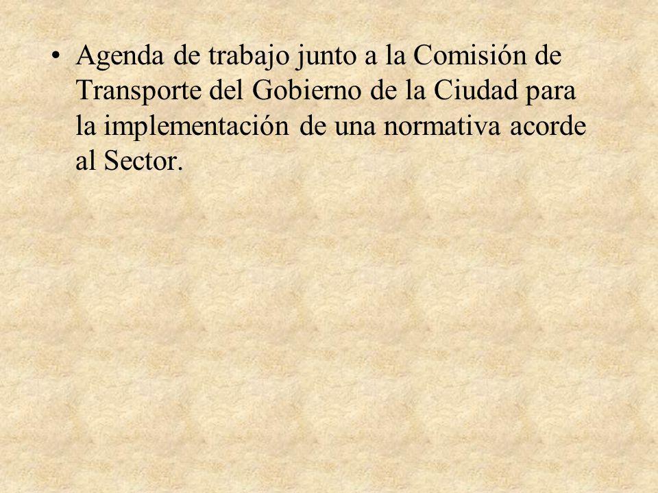 Agenda de trabajo junto a la Comisión de Transporte del Gobierno de la Ciudad para la implementación de una normativa acorde al Sector.
