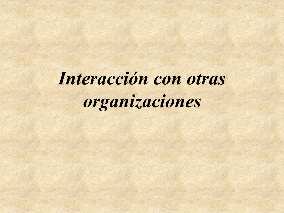 Interacción con otras organizaciones