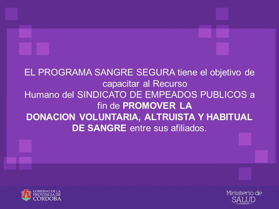 Agente promotor El agente promotor de la Hemodonaci ó n constituye un nexo entre el Banco de Sangre y la comunidad destinataria afiliados del SEP.