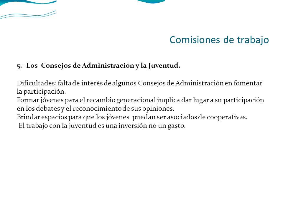 5.- Los Consejos de Administración y la Juventud.