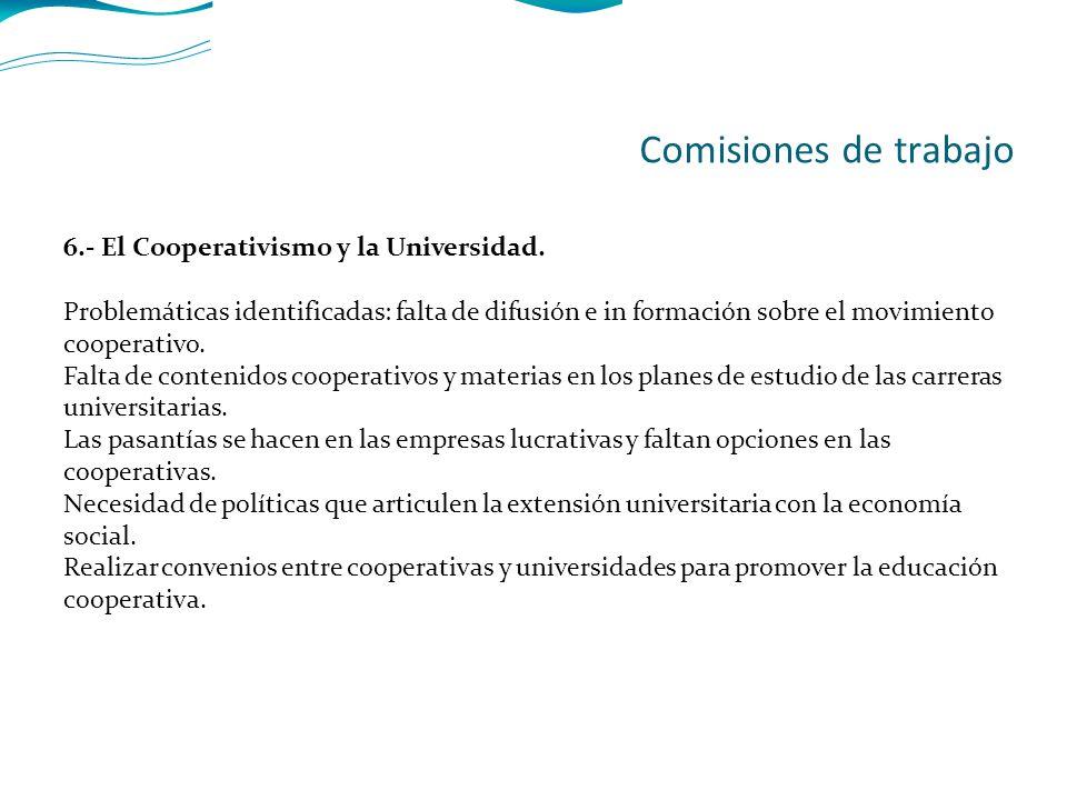 6.- El Cooperativismo y la Universidad.