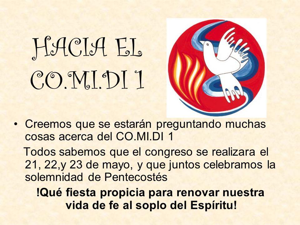 La inspiración La idea del Congreso surgió en una visita a Luján. La delegación comenzó a rezarla y nuestro Obispo la confirmo y alentó su realización