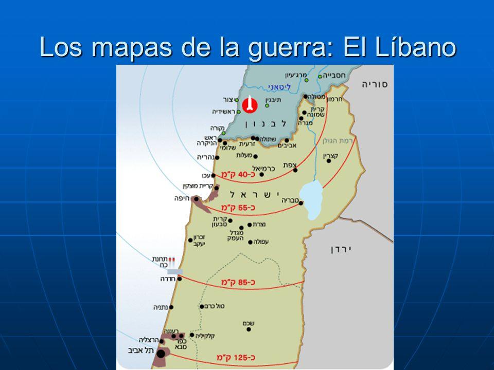Los mapas de la guerra: El Líbano