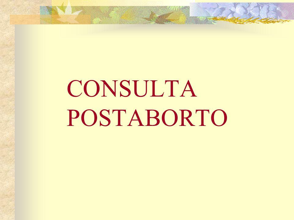 CONSULTA POSTABORTO