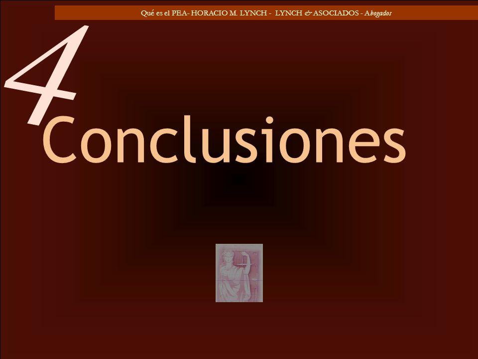 Qué es el PEA- HORACIO M. LYNCH - LYNCH & ASOCIADOS - Abogados Conclusiones 4