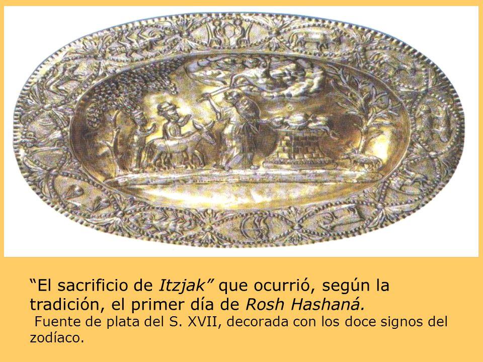 El sacrificio de Itzjak que ocurrió, según la tradición, el primer día de Rosh Hashaná.