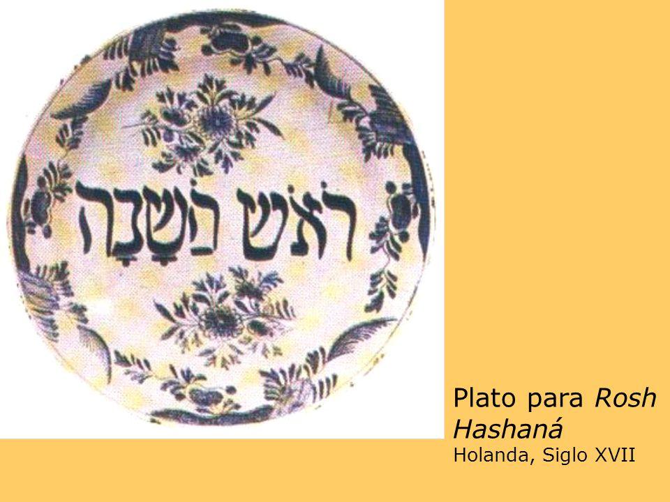 Plato para Rosh Hashaná Holanda, Siglo XVII